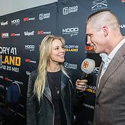 NLD/Den Bosch/20170510 - Persconferentie Glory 41, Rico Verhoeven wordt geinterviewd door Celine Huijsmans van SBS