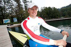 Rok Kolander during media day of Slovenian National rowing team before World Championships in New Zealand 2010 on October 14, 2010 in Mala Zaka, Bled, Slovenia. (Photo by Vid Ponikvar / Sportida)