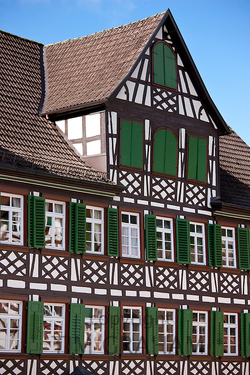 Timber-framed Guesthouse Sonne in Schiltach in the Bavarian Alps, Germany