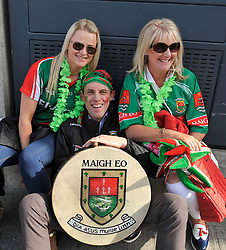 Mary Murphy, Cathal Gill Ballina and Imelda Duffy Knockmore at the All Ireland Football Final<br /> Pic Conor McKeown