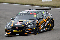 #25 Matt Neal Halfords Yuasa Racing Honda Civic Type R (FK8) during BTCC Race 1  as part of the Dunlop MSA British Touring Car Championship - Rockingham 2018 at Rockingham, Corby, Northamptonshire, United Kingdom. August 12 2018. World Copyright Peter Taylor/PSP. Copy of publication required for printed pictures.