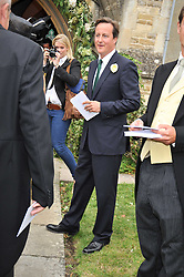 DAVID CAMERON who was an usher at the wedding of Lohralee Stutz and the Hon.William Astor at St.Augustine's Church, East Hendred, Oxfordshire on 5th September 2009.