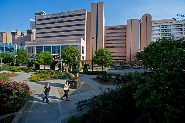 Stock photo of the Texas Medical Center - MD Anderson Cancer Center