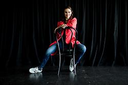 Iva Krajnc Bagola, gledališka in filmska igralka, članica gledališkega ansambla MGL // Slovenian actress Iva Krajnc Bagola posing after an interview, on March 21, 2017 in MGL, Ljubljana, Slovenia. Photo by Vid Ponikvar / Sportida