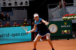 May 7, 2019 - Madrid, Spain - Johanna Konta (GBR) in her match against Simona Halep (BEL) during day four of the Mutua Madrid Open at La Caja Magica in Madrid on 7th May, 2019. (Credit Image: © Juan Carlos Lucas/NurPhoto via ZUMA Press)