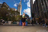 Madison Square Park Dance As Art Photography with ballerina Sabrina Imamura en pointe