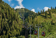 Aspen Mountain and the Silver Queen Gondola in summer.