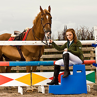 Pictured is Claire Sharp aged 16 from Alloway, Ayrshire and her pony Spiffy. Claire and Spiffy have qualified twice for this years prestigious Horse of the Year Show to be held at the NEC Arena in Birmingham in October. Picture Christian Cooksey