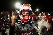 Thiriet by TDS Racing (P2) Nissan Oreca celebrates a class win at Petit Le Mans. Oct 18-20, 2012. © Jamey Price