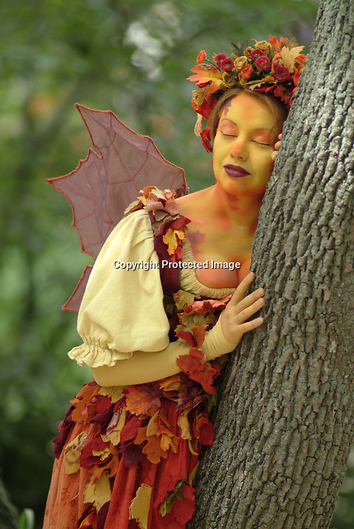One of the mysterious fairie ffolk frolics in the sun at the Bristol Renaissance Faire, Kenosha, WI.