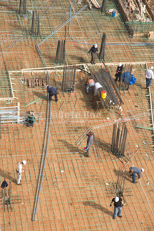 large building site under construction preparing for pouring concrete