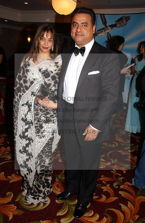 MR &amp; MRS MIKE JATANIA he is the cosmetic multi millionaire at the 10th Anniversary Asian Business Awards 2006 at the London Grosvenor Hotel Park Lane, London on 19th April 2006.<br />
