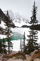 Moraine Lake and The Valley of the Ten Peaks During Spring Season, Banff National Park, Alberta, Canada