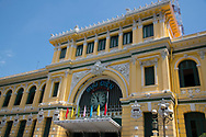 The French colonial era General Post Office in Ho Chi MInh City, Vietnam, Southeast Asia
