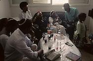 The Ethiopian Jews; The kess Rafael Adana et his Sohn Youssef ,  Sephardic rabbi    Israel     /// les juifs ethiopiens; le kess Riphail Adana et son fils Youssef , rabin sepharade    Israel chez le pere a bet shemesh, le rabbinat n'a jamais voulu reconaitre les grands pretres israelites ethiopiens  /// R00287/    L004427  /  P0007215