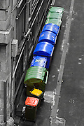 Waste Rubbish bins (wheelie bins) in alley - Melbourne <br />
