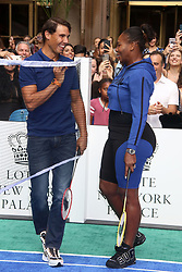 August 23, 2018 - New York City, New York, U.S. - Tennis players  RAFAEL NADAL and SERENA WILLIAMS attend the 2018 Lotte Palace Invitational Badminton Tournament held at the Lotte New York Palace. (Credit Image: © Nancy Kaszerman via ZUMA Wire)