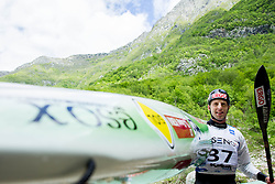 Winner in K1 men Nejc Znidarcic of Slovenia at final sprint race of European wildwater Canoeing Championships Soca 2013 on May 12, 2013 in Trnovo ob Soci, Soca river, Slovenia. (Photo By Vid Ponikvar / Sportida)