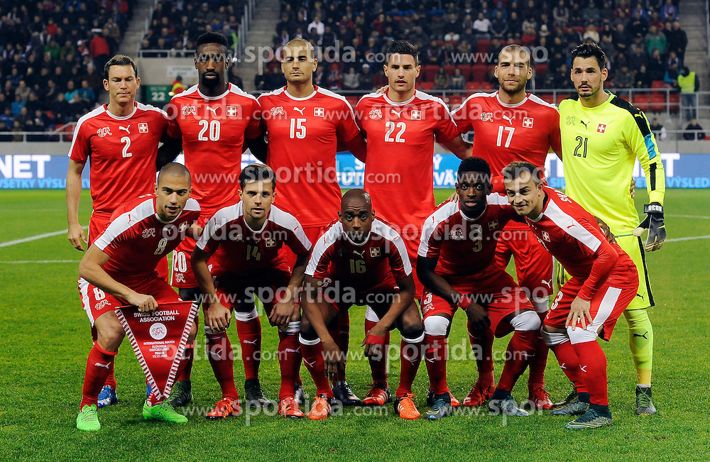 13.11.2015, Antona Malatinskeho Stadion, Trnava, SVK, Testspiel, Slowakei vs Schweiz, im Bild Teamfoto Schweiz // Switzerland team picture during the International Football Friendly Match between Slovakia and Switzerland at the Antona Malatinskeho Stadion in Trnava, Slovakia on 2015/11/13. EXPA Pictures © 2015, PhotoCredit: EXPA/ Radovan Stoklasa