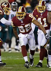 Washington Redskins wide receiver Antwaan Randle El (82) celebrates with teammates after a punt return.  The Washington Redskins defeated the Philadelphia Eagles 10-3 in an NFL football game held at Fedex Field in Landover, Maryland on Sunday, December 21, 2008.