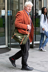 © Licensed to London News Pictures. 16/06/2019. London, UK. Stanley Johnson is spotted leaving the BBC. He is the father of Conservative Party leadership Boris Johnson.   Photo credit: George Cracknell Wright/LNP