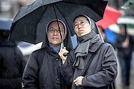 VATICAN CITY, VATICAN - MARCH 13, 2013 - Argentinian Cardinal Jorge Mario Bergoglio was later elected as the 266th Pontiff. Hundreds of faithful in St Peter's Square waiting in the rain for the outcome of the voting in the conclave. Photo Giovanni Marino/Inside......