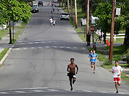 Middletown, New York - Runners compete in the 15th annual Ruthie Dino Marshall 5K Run and Fun Walk hosted by the Middletown YMCA on Sunday, June 5,  2011.