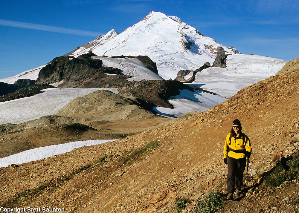 Mt. Baker Wilderness Area; North Cascades, Ptarmigan Ridge Trail Hiker