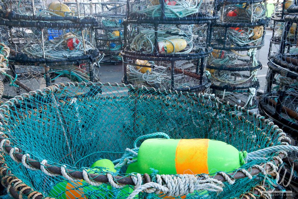 Crab Pots and Fishing Nets at Woodley Island Marina, Eureka, California