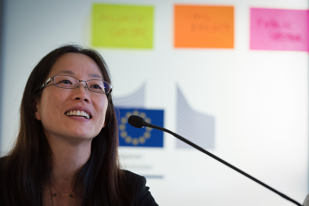 03 June 2015 - Belgium - Brussels - European Development Days - EDD - Urban - Growing food in greener cities - The role of urban and peri-urban horticulture - Makiko Taguchi<br /> Agricultural Officer, Plant Production and Protection Division, Food and Agriculture Organisation of the United Nations (UNFAO) &copy; European Union