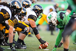 Nov 25, 2017; Huntington, WV, USA; Southern Miss Golden Eagles offensive lineman Devin Farrior (78) waits over center during the third quarter against the Marshall Thundering Herd at Joan C. Edwards Stadium. Mandatory Credit: Ben Queen-USA TODAY Sports