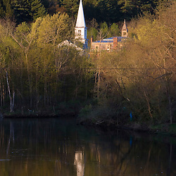 A church steeple in Wells River Vermont USA