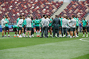 Saudi Arabia training session on June 13, 2018 the day before the opening match of the 2018 FIFA World Cup Russia, Group A football match between Russia and Saudi Arabia at Luzhniki Stadium in Moscow, Russia - Photo Thiago Bernardes / FramePhoto / ProSportsImages / DPPI