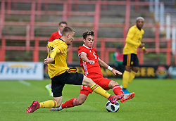 WREXHAM, WALES - Friday, September 6, 2019: Wales' Robbie Burton during the UEFA Under-21 Championship Italy 2019 Qualifying Group 9 match between Wales and Belgium at the Racecourse Ground. (Pic by Laura Malkin/Propaganda)