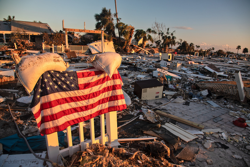 Widespread damage left in the wake of Hurricane Michael in Mexico Beach, Florida.