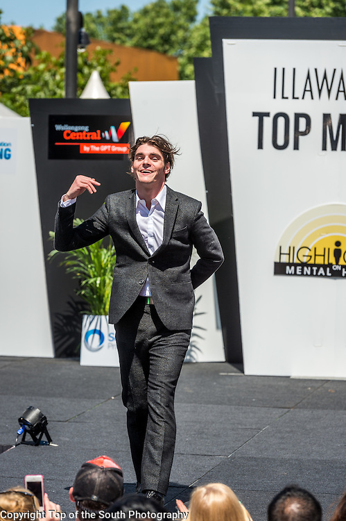 Rj Mitte.<br /> Illawarra's Top Model Finals &amp; Runway Fashion Show at Wollongong Mall, NSW, Australia.<br /> 10th October 2015.