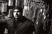Bass player/vocalist Evan Seinfeld of Biohazard as seen in the basement of the building their rehearsal studio was in.<br /> <br /> MANDATORY CREDIT: M David Leeds