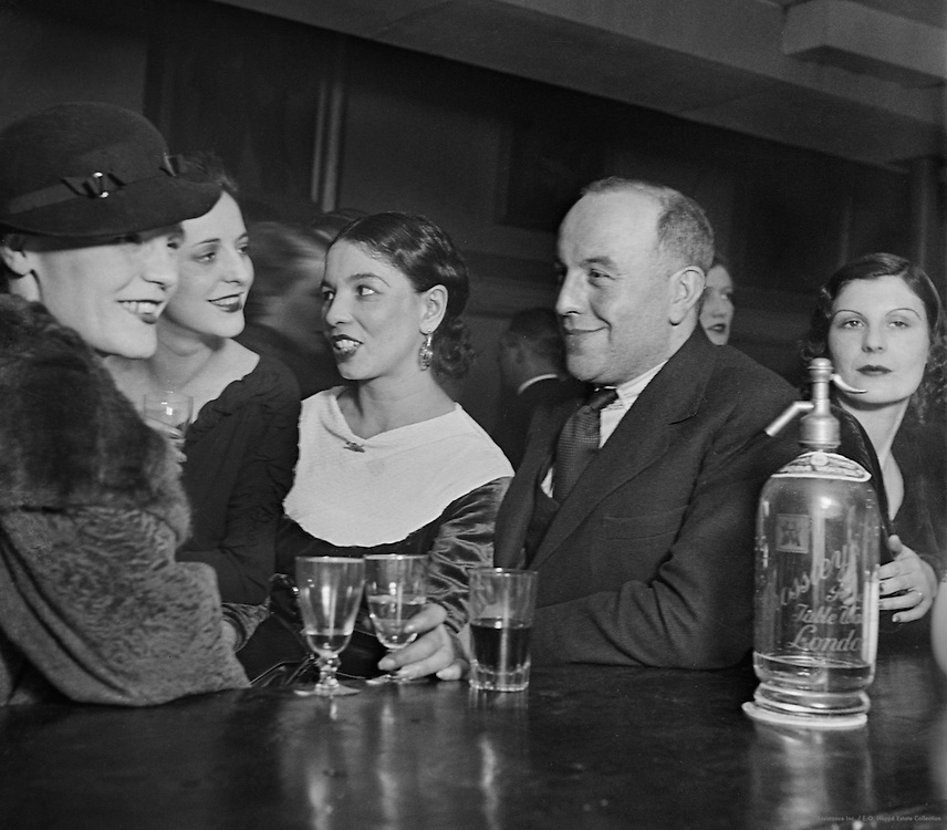 "At the Bar in the Pheasantry Club, ""Bohemia"" series, London, 1935"