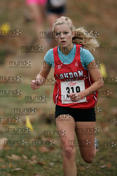 King City, Ontario ---09-11-15--- Hanne Roelen of the London Legion T&F Alliance competes at the Athletics Ontario Cross Country Championships in King City, Ontario, November 16, 2009..GEOFF ROBINS Mundo Sport Images