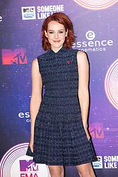Jena Malone.<br /> Red carpet at the MTV EMA, Glasgow.