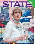 State magazine cover picture.- GRAYSON PERRY, Royal Academy Annual Dinner 2013. Piccadilly. London. 4 June 2013.