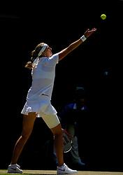 LONDON, ENGLAND - Thursday, July 3, 2014: Petra Kvitova (CZE) during the Ladies' Singles Semi-Final match on day ten of the Wimbledon Lawn Tennis Championships at the All England Lawn Tennis and Croquet Club. (Pic by David Rawcliffe/Propaganda)