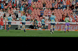 28-07-18 Emirates Airline Park, Johannesburg. Super Rugby semi-final Emirates Lions vs NSW Waratahs. 1st half. Lions left wing Aphiwe Dyantyi dives over the try line.<br />  Picture: Karen Sandison/African News Agency (ANA)