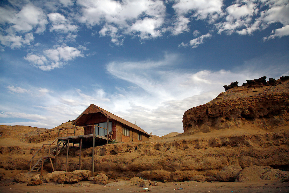 Angola, Namibe Province, Iona National Park. Flamingo lodge Fishing camp in the desert on the Atlantic coast.<br /> <br /> Photo: &copy; Zute &amp; Demelza Lightfoot