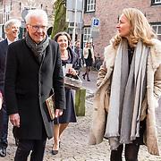 NLD/Naarden/20180330 - Matthaus Passion in de grote kerk van Naarden 2018, Paul Witteman en partner Melinde Kassens