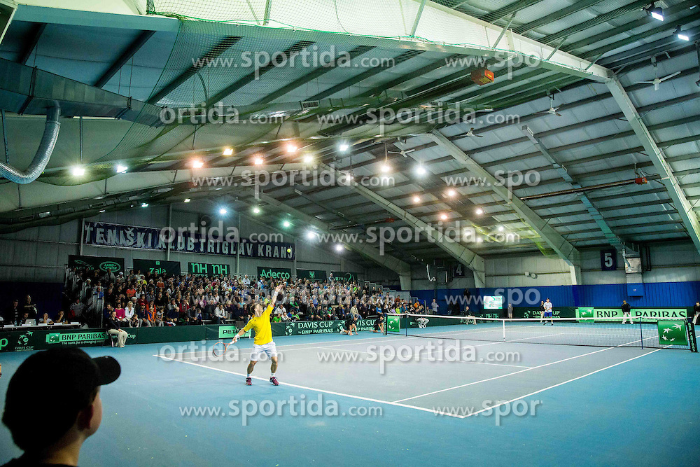 Richardas Berankis of Lithuania in action during Davis Cup Slovenia vs Lithuania competition, on October 30, 2015 in Kranj, Slovenia. Photo by Vid Ponikvar / Sportida