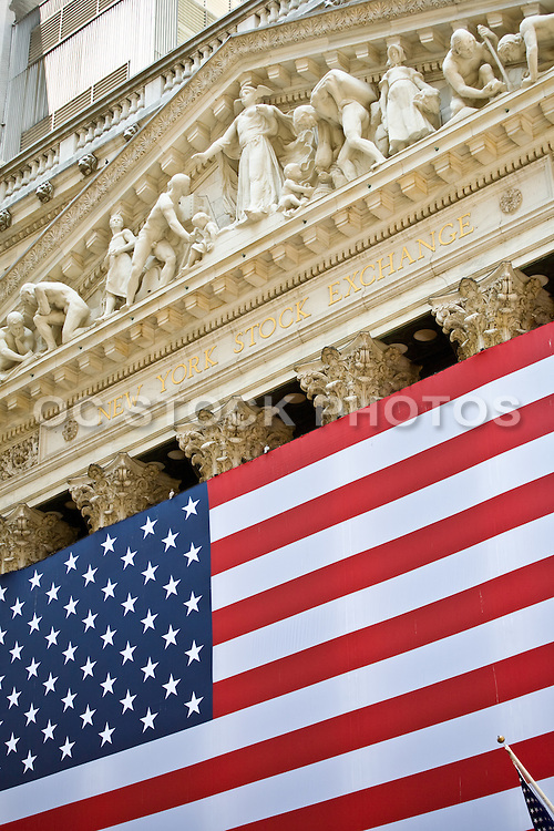 New York Stock Exchange And The American Flag