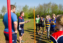 Bristol Rugby Super Sunday coaching session ahead of the Play-off Semi-Final - Mandatory by-line: Paul Knight/JMP - 09/04/2017 - RUGBY - Cleve RFC - Bristol, England - Bristol Ladies v Saracens Women - RFU Women's Premiership Play-off Semi-Final