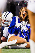 ARLINGTON, TX - NOVEMBER 24:   Dallas Cowboy Cheerleader is knocked over by Jason Witten #82 of the Dallas Cowboys during a game against the Miami Dolphins at Cowboys Stadium on November 24, 2011 in Arlington, Texas.  The Cowboys defeated the Dolphins  20 to 19.  (Photo by Wesley Hitt/Getty Images) *** Local Caption *** Jason Witten Sports photography by Wesley Hitt photography with images from the NFL, NCAA and Arkansas Razorbacks.  Hitt photography in based in Fayetteville, Arkansas where he shoots Commercial Photography, Editorial Photography, Advertising Photography, Stock Photography and People Photography