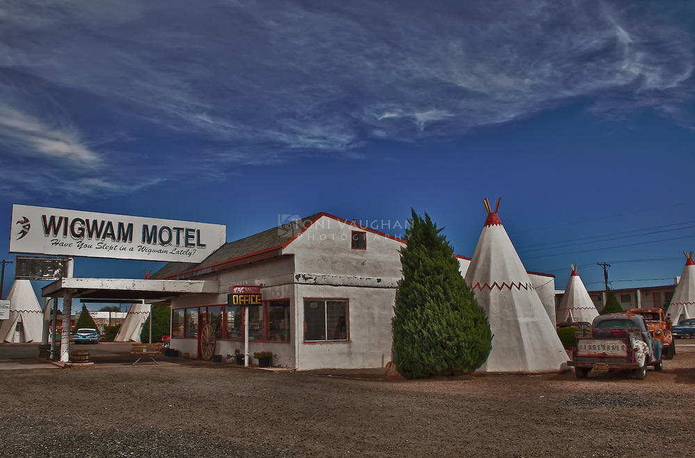 Shot of the Wigwam Motel in Holbrook, Arizona along Old Route 66.